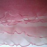 Рюш капроновый гофрированный оборка шир 5,5 см розовый