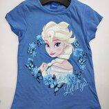 Голубая футболка Эльза Дисней