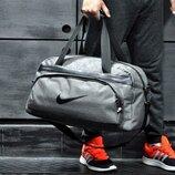 светло-серая сумка Nike / коттон