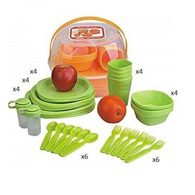 Набор для пикника пластик на 4персоны 36пр/наб 17 20см R86498