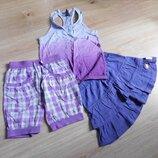 майка юбка шорты на 6-8 лет