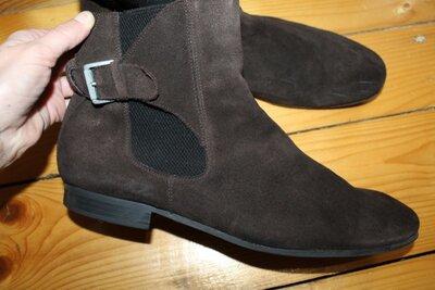 46 разм. Ботинки Strellson. Замша натуральная Длина по внутренней стельке 30 см. замер от края и до