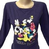 Свитшот, футболка с длинным рукавом Disney, хлопок Пог-46 см