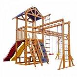 Детский игровой комплекс для дома «Babyland-12» из натурального дерева