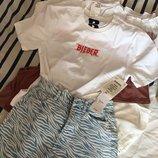 Белая футболка biber hm divided , белая футболка