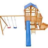 Детский игровая площадка «Капитан с зимней горкой Babyland-13» из натурального дерева