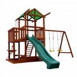 Детский игровой комплекс для улицы из натурального дерева