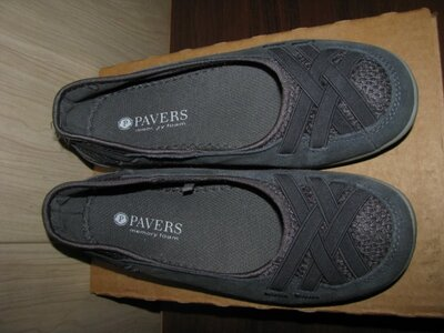 Балетки туфли новые кожа Pavers Mory Foam Оригинал Англия р.35 стелька 22 см