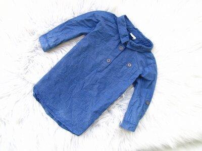 Качественная и стильная джинсовая рубашка H&M
