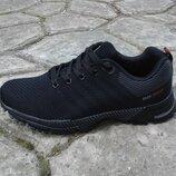 Мужские кроссовки черные 41-46р на пенке