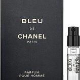 Пробник Chanel Bleu De Chanel Parfum, 1,5 мл, оригинал.