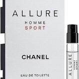 Пробник Chanel Allure Homme Sport, EDT, 1,5 ml, оригинал.