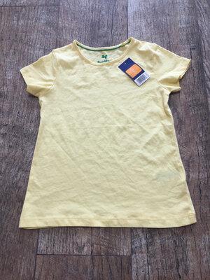 Летняя яркая хлопковая футболка на девочку Lupilu Германия