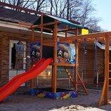 Детская игровая площадка из натурального дерева «SportBaby-9»