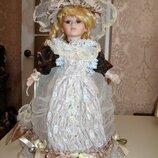 Фарфоровая кукла коллекционная сувенирная 50 см Elizabeth Сша