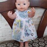 Платье для кукол Беби Борн. Большой выбор. Ручная работа