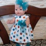 Платье, повязка, туфельки для кукол Беби Борн. Большой выбор.