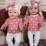 Набор одежды для кукол Беби Борн и старшей сестры.