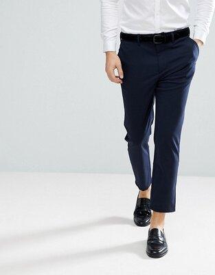 Актуальные мужские брюки slim cropped р. 36 или 29