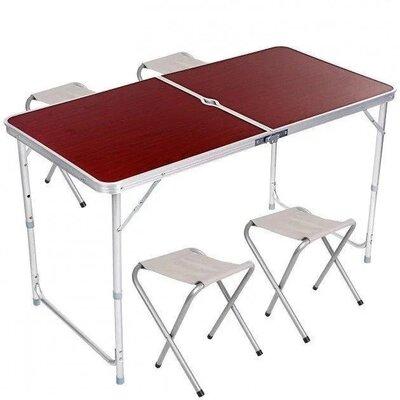 Продано: Стол складной 4 стула для пикника, дачи, кемпинга, столик складной, походной styleberg 6001