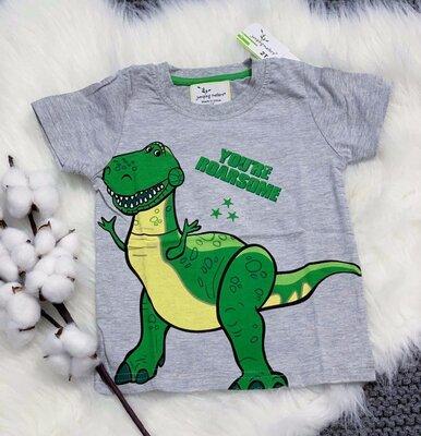 Яркие летние футболки для мальчиков с Дино и не только 2-6 лет