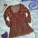 Блузка туника Zara женская сетка