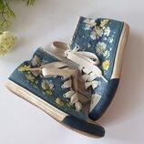 джинсовые кеды Некст с цветочками