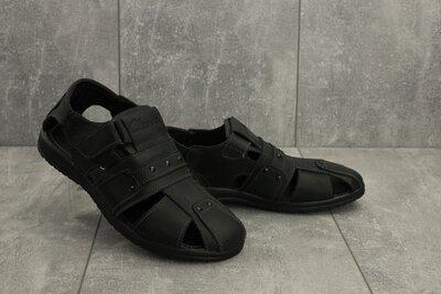 Мужские сандали clarks кожаные летние босоножки черные