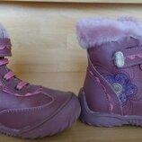 Новые сапоги кожаные для девочки 25 размер