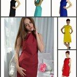Платье элегантное летнее, короткое платьице.бордо, красный, синий, мята, черный, синий.пт18