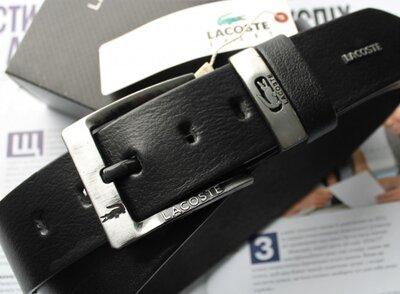 Мужской ремень для джинсов Lacoste черный
