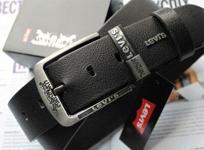 Мужской ремень для джинсов Levis black