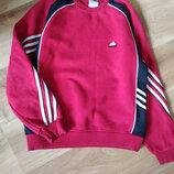 Хорошенький свитер от Adidas темно красного цвета, теплый, есть начес, размер М