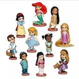 Набор фигурок Принцессы Диснея 10 шт, мини аниматоры, Disney