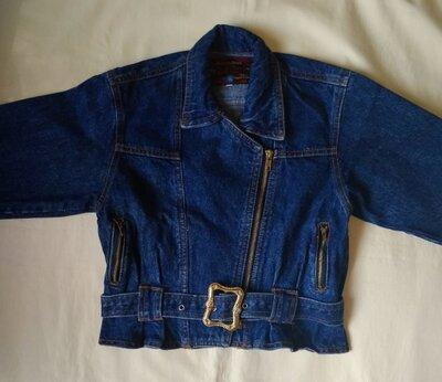 Джинсовая качественная куртка косуха на подростка,Marlboro