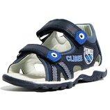 Clibee клиби 254 blue-royal Кожанные босоножки сандали шкіряні босоніжки обувь взуття сине-голубой