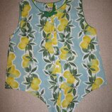 Блуза с лимончиками Лав Некст 8лет