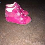 Кожаные ботинки для девочки,13 см стелька
