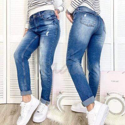 Джинсы женские Relucky 8886-5 А бойфренды стильные весенние стрейчевые размер 25-30 Н