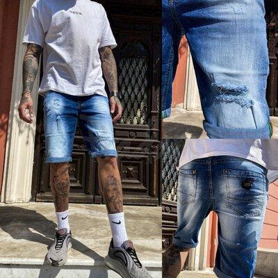 Шорты джинсовые мужские стрейчевые размер 29,31,38 9920-3 R Relucky Н
