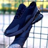 Мужские черные кроссовок в стиле Nike Air Max 270 черные