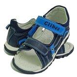 Clibee Ав-6 синий кожаные босоножки сандали босоніжки літнє обувь взуття для мальчика хлопчика.