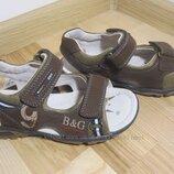 Босоножки кожаные для мальчика 18 см, , кожаные сандали для мальчика B&G