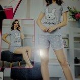 Пижама женская, домашний набор, Турция, хлопок
