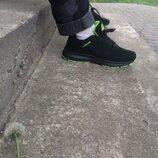 Кросівки чоловічі, мужские кроссовки черные 40-45р