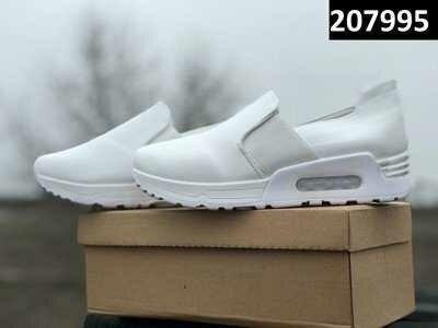 Классные женские мокасины кроссовки AIR MAX цвет белый Последняя пара