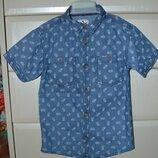 Хлопковая рубашка Rebel на рост 128 см 7-8 лет .