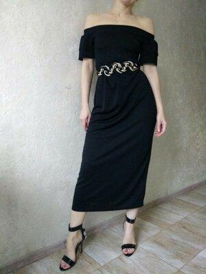 Элегантное женское платье. Платье миди.