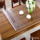 Жидкое стекло Прозрачный силикон Мягкое Гибкое стекло Скатерть на стол