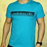 Футболка мужская Adidas бирюза.